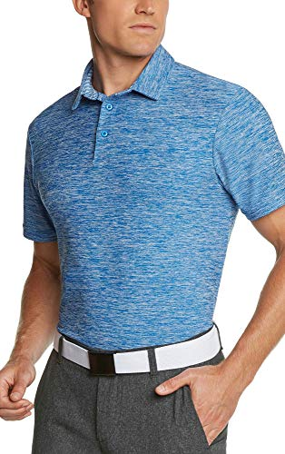 Jolt Gear Golf Shirts for Men - Dry Fit Short-Sleeve Polo, Athletic Casual Collared T-Shirt Cool Blue