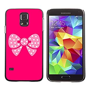 TopCaseStore / la caja del caucho duro de la cubierta de protección de la piel - Pink Butterfly Pattern - Samsung Galaxy S5 SM-G900