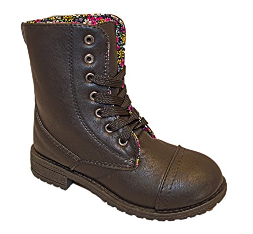 Charles Albert Little Kids Combat Lace Up Boots (13, Black) (Combat Child Boots)