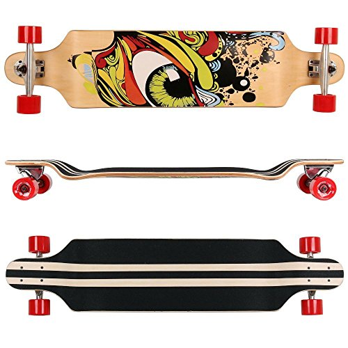 Fantastic Deal! Rimable 41 Inch Drop Deck Complete Longboard