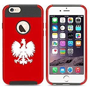 For Apple iPhone 6 6s Shockproof Impact Hard Case Cover Poland Polish Eagle (Red)