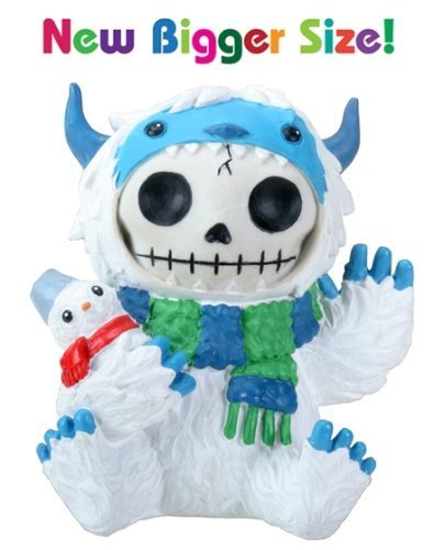 [3.5 Inch Furry Bones White and Blue Yeti Halloween Costume Figurine] (Scarf Halloween Costumes)