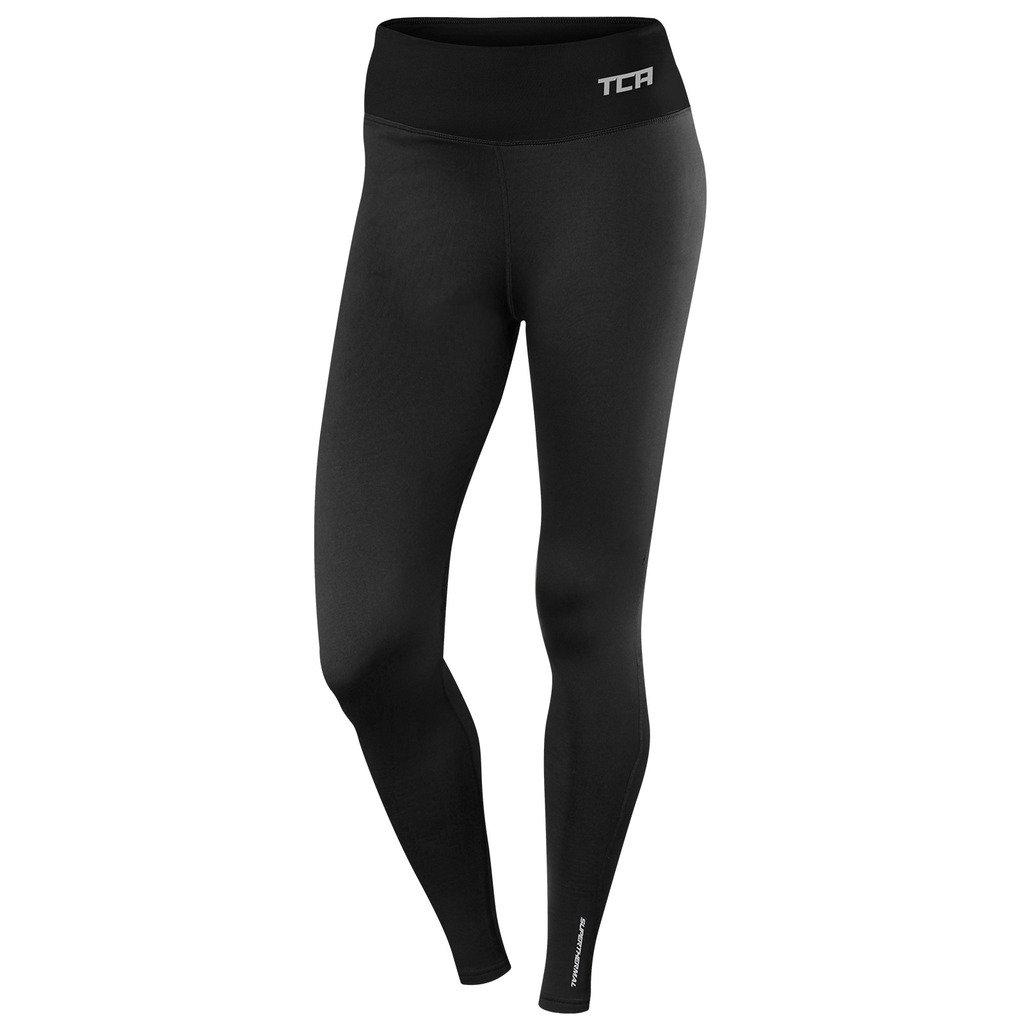 TCA SuperThermal Damen Thermo Sportleggings/Laufhose mit Reißverschlusstasche