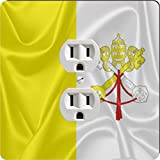 Rikki Knight 2784 Outlet Holy See Flag Design Outlet Plate