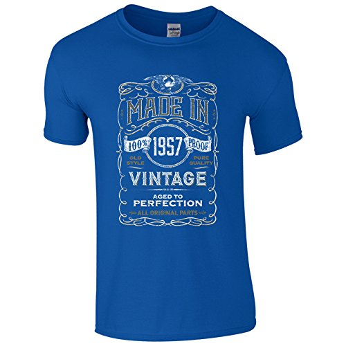 UKPrintwear Herren T-Shirt Gr. XXXXL, königsblau