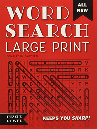 Word Search Large Print (Red): Word Play Twists and Challenges (Puzzle Power)