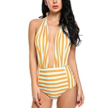 Avidlove One Piece Bikinis Swimsuits Backless Swimwear Pin Up Monokinis