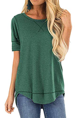 JomeDesign Short Sleeve Shirts Casual Loose Clothes Can Work as Maternity Shirts Green Small (Best Maternity Leggings 2019)
