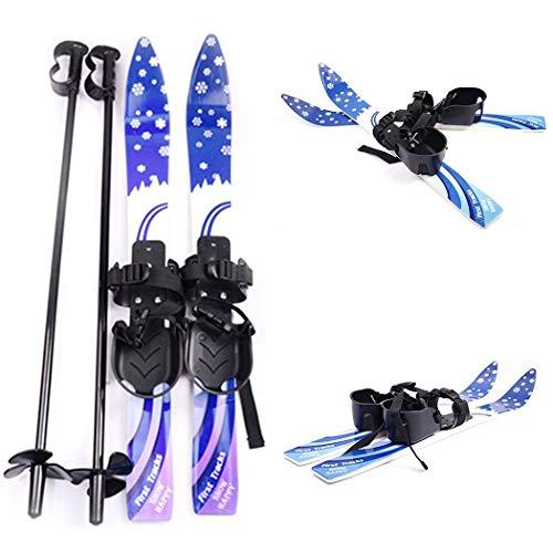 Oguine Winnter Sports Kid's Beginner Snow Skis and Poles with Bindings Age 2-4, Kid's Outdoor Snowpup - Snowboard Package Kids Beginner