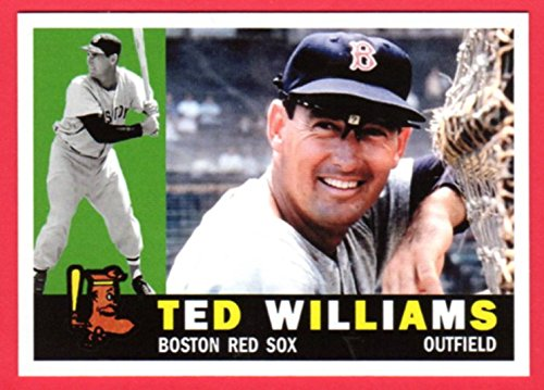 Ted Williams 1960 Topps Classic Design Custom Card (Red - Card 2003 Topps Finest