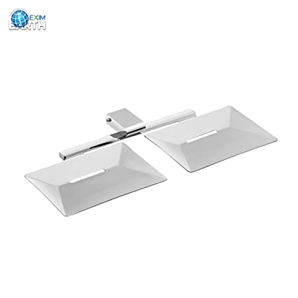 Acute (BL-33) Double Soap Dish - Soap Stand, Fully Brass, Chrome (Silver Finish)