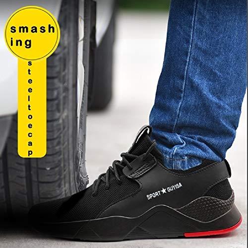 tqgold Chaussures de sécurité pour hommes / femmes, bout en acier, baskets légères, respirantes, pour randonnée, marche… 4