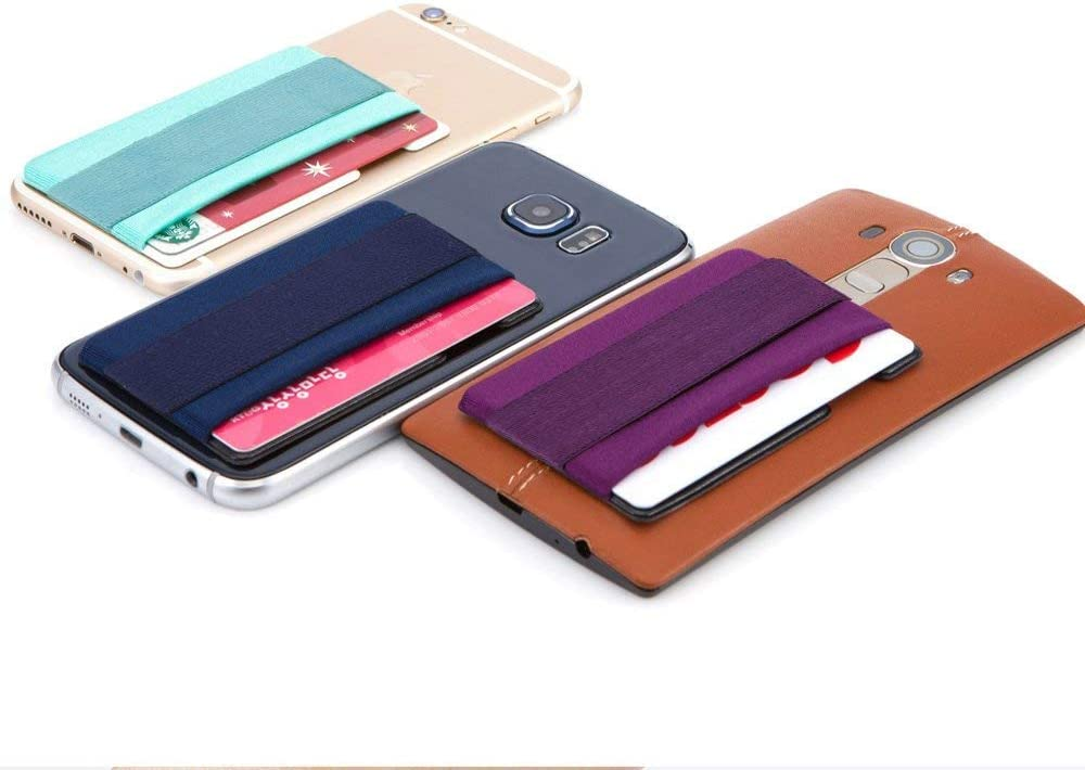 Black Sinji Pouch Band ID Holder Card Wallet Cell Phone Wallet Sticker for Back of Phone with iPhone Finger Gripper Storing Credit Cards Sinjimoru Phone Grip Card Holder