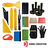 Haru Creative - Automotive Car Tool Kit for Car Vinyl Wrapping Window Tinting Installation - Felt Edge Squeegee Razor Knife - Large Kit