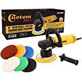 Custom Shop Heavy Duty 6'' Variable Speed Random Orbital Polisher with 6-Pad Set