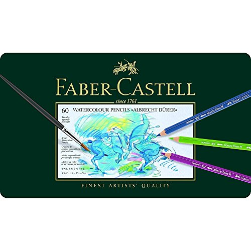 Faber-Castell Albrecht Durer Watercolor Pencil Tin, Set of 60 Colors (FC117560) by Faber-Castell