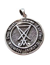 925 Silver Satanic Pentagram Pendant Pentacle Necklace Jewelry Art A19