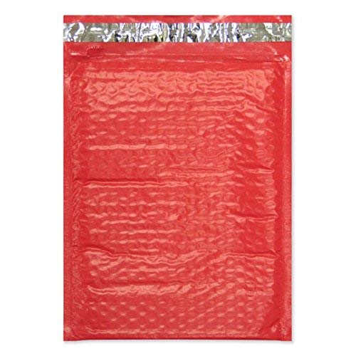 """Forlei 25 Pieces - #5 10.5"""" x 16"""" Premium Red Color Self Seal Poly Bubble Mailers Padded Shipping Envelopes Tear-Proof, Water-Resistant and Postage-Saving Lightweight"""
