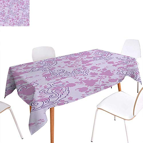 - longbuyer Table Cover Floral Pattern Rectangle/Oblong W 60