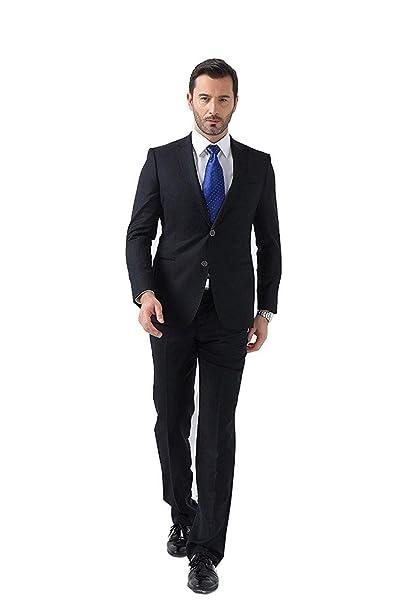 5a4e0a02b5c0e SHENLINQIJ Juego de Trajes de Vestir para Hombre con Dos Botones para  Negocios