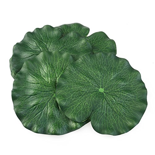 (Tinksky 18CM Floating Pool Decoration Water Decorative Aquarium Fish Pond Scenery Lotus Leaf,Pack of 10 (Green))