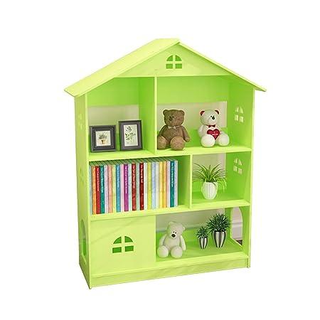 TQ Bookcase Creative Castle Childrens Bookshelf Floor Small Student Storage Shelf Color White