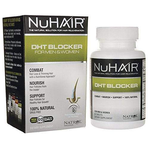 NuHair DHT Blocker Hair Regrowth Support Tablets for Men and Women – 60 Ea