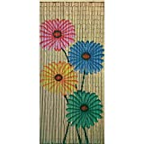 Bamboo54 Quad Flowers Outdoor Curtain