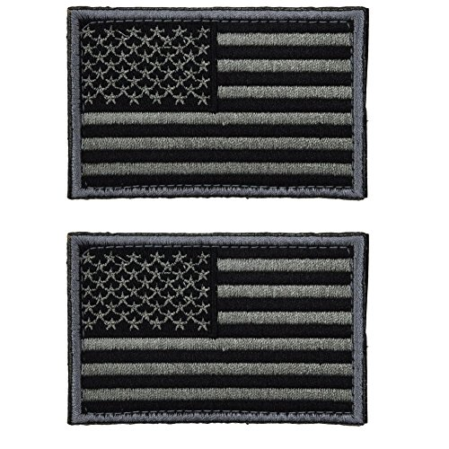 CREATOR USA Tactical Flag Patch(Not Luminous) + Pattern Luminous Patch - Multitan Morale Military Uniform Emblem for Backpack Tactical Gear High Reflective Morale Patch