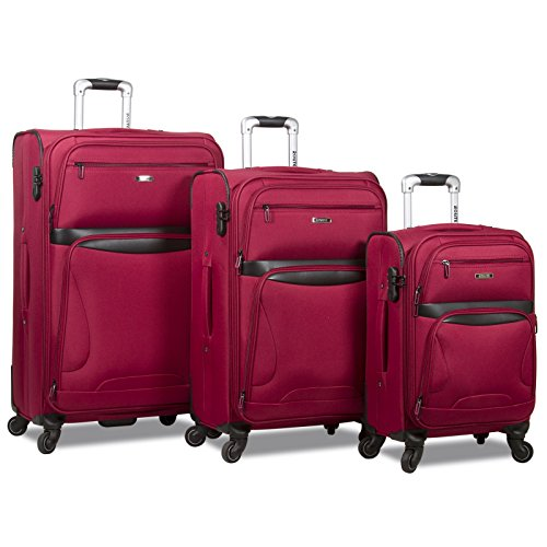 Rolite Explorer 3-Piece Expandable Spinner Luggage Set - Burgundy by Rolite