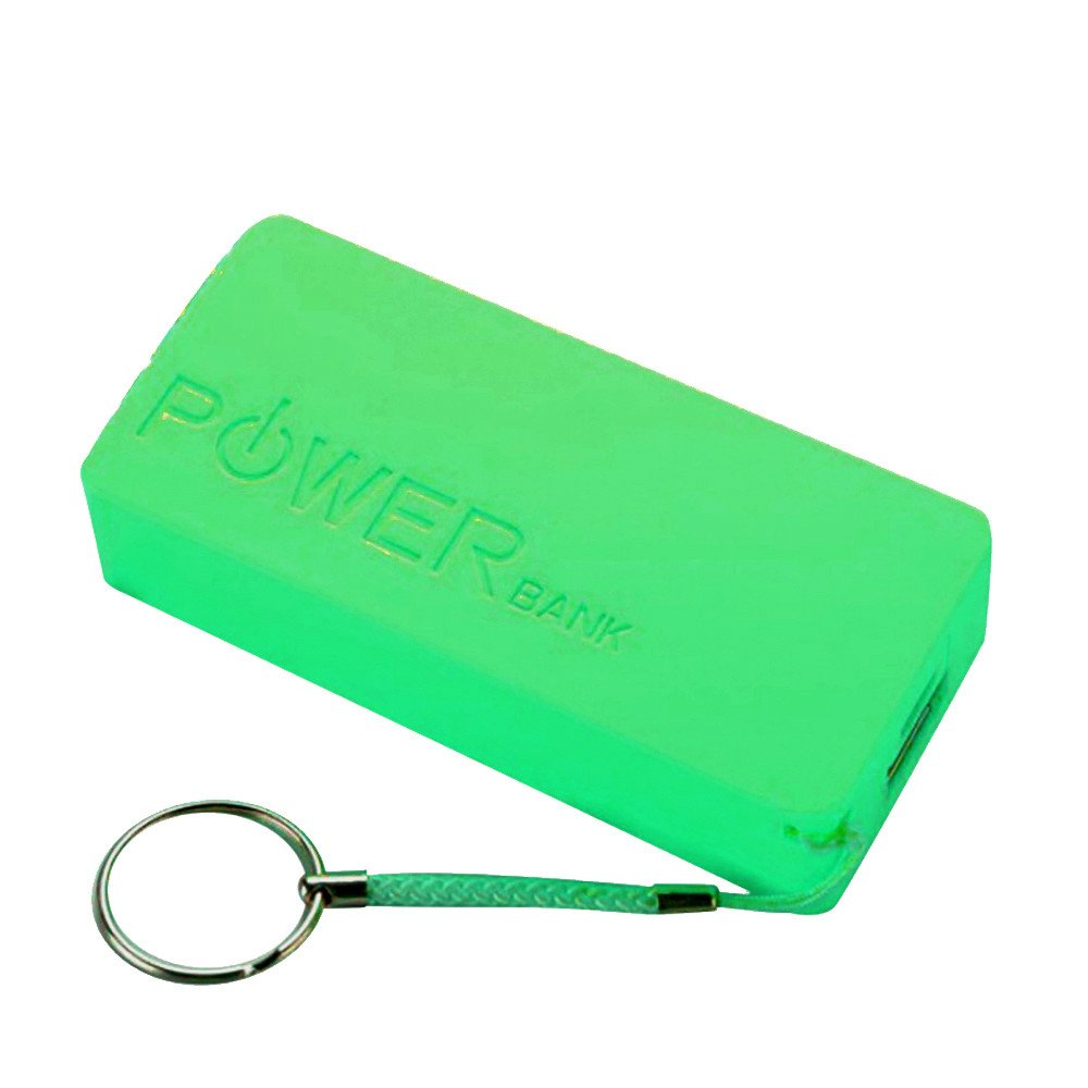 HJuyYuah 5600mAh 2X 18650 USB Power Bank Battery Charger Case DIY Box for iPhone Sumsang (Green)