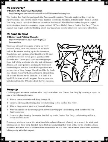 Pictures Boston Tea Party Worksheets - Studioxcess