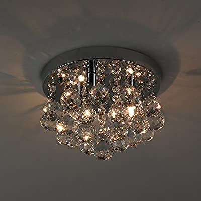 NATSEN modern ceiling lights crystal flush mount ceiling light fixture for kitchen bedroom dining room