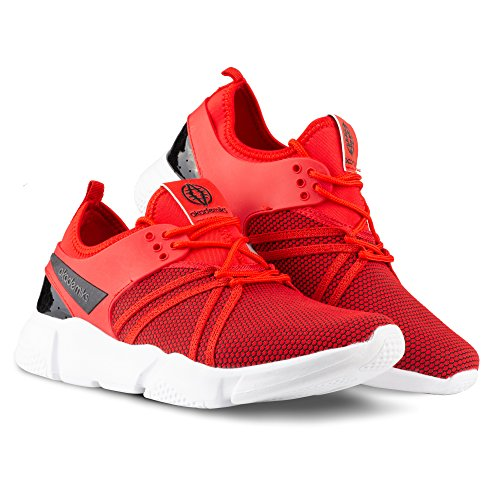 Akademiks Red Knit Tubular Men's Sneakers Fashion rqzSrx6wH