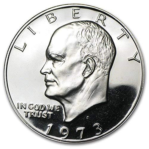1973 S Proof Eisenhower 40% Silver Dollar (Ike) $1 Brown Box US Mint
