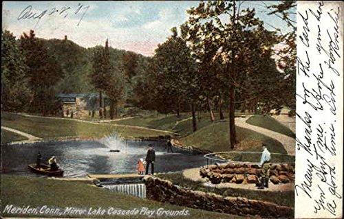Mirror Lake Cascade Play Grounds Meriden, Connecticut Original Vintage Postcard ()