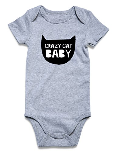 Crazy Kids Clothes (UNICOMIDEA Newborn Baby Jumpsuit Infant Baby Boys Girls Romper Crazy Cat Baby Bodysuit Jumpsuit Outfits Sunsuit Clothes)