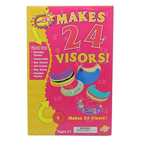 Creativity Street 5487 Visor Activity Pack, 24-Pack, Assorted Colors (CKC5487) (Atlantic Visor)