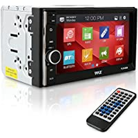 Pyle Car Audio Radio Receiver | Double Din Car Stereo | 6.5 TouchScreen | Bluetooth Audio Receiver | Wireless Streaming | Microphone | Handsfree | USB/SD Memory Card | AUX/MP3 Input | (PLRUB69)