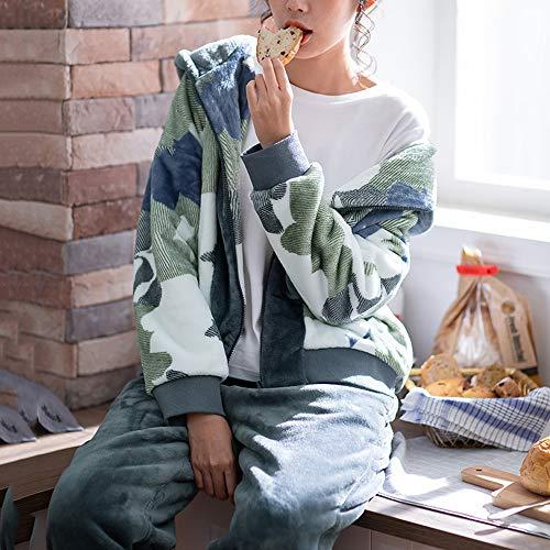 Gwdj Movimiento Camouflage Liruipengsy El Amantes Para Pijamas Capucha Costura Color Simples Calor Camuflaje Invierno Conjunto Pijamas female Del Hogar Ropa Con Espesar Mantener Color Mujer Ocio dwBBYqgr
