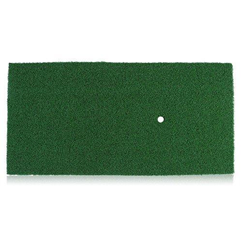 Isabelvictoria 12X24 Inch Indoor Backyard Golf Chipping Driving Range Training Mat, Golf Batting Practicing Pad Golf Hitting Grass Mat