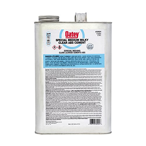 Oatey 30924 ABS Special Milky Clear Cement, Gallon