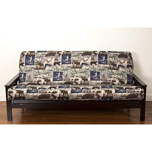SIScovers North Shore Futon Cover Brown, Multi Full
