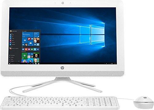 HP 20 All-In-One AIO Desktop Computer (19.5 Inch HD+ LED, AMD Quad-Core 1.8GHz CPU, 4GB DDR3 Memory, 1TB HDD, DVD RW, USB3.0, Wifi, Bluetooth, Windows 10, White (Certified Refurbishd)