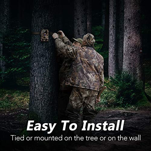 "AIMTOM Trail Hunting Camera 16MP Image 1080P Video 46Pcs Infrared LEDs 0.2S Trigger Time Waterproof Night Vision 120° Wide Angle 2.4"" LCD Screen Scouting Ghost Game Stealth Wildlife Trap Cam"