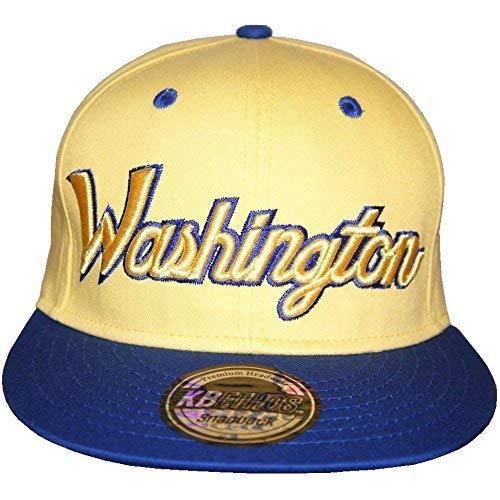 046327533 KB Ethos Washington Snapback Caps, Spectacular Bling Flat Peak ...