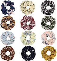 Save 22% on Multicolored floral hair scrunchies chiffon