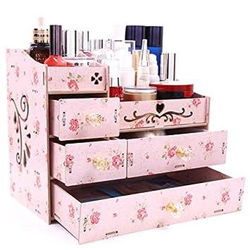 Zz Aini Bambus Kosmetik Organiser Aufbewahrungsbox Fur Make Up Mit