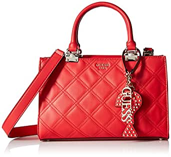 GUESS womens Guess Status Girlfriend Satchel Lipstick Red Size: One Size