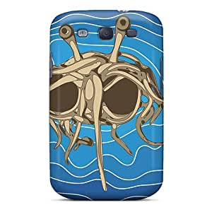Ercox Scratch-free Phone Case For Galaxy S3- Retail Packaging - Flying Spaghetti Monster